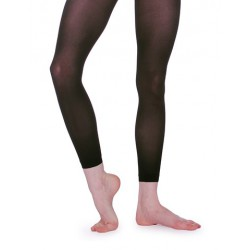 BLACK FOOTLESS TIGHTS ROCH...