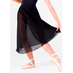 BLACK CREPE SKIRT (E-11058)
