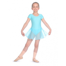 SHORT SLEEVED LEOTARD WITH...