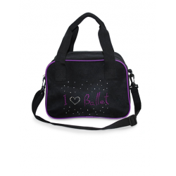 BLACK AND PURPLE BALLET BAG
