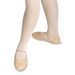 LEATHER BALLET SHOE WITH...