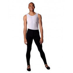 MENS BLACK FOOTLESS TIGHTS